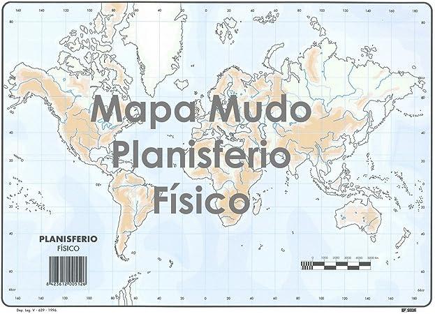 Mapa Mudo SELVI Color Din-A4 África Físico, Caja x50: Amazon.es ...
