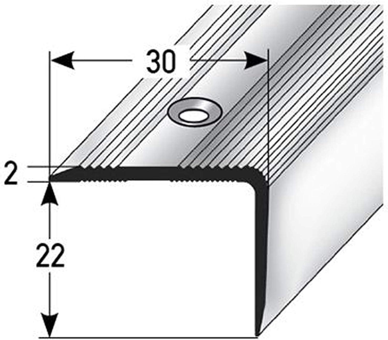 135cm Profil de bord descalier acerto 51059 rofil dangle descalier en aluminium or * Antid/érapant * Robuste * Montage facile 22x30mm profil de marche en aluminium