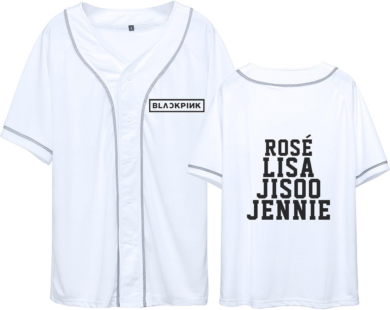 JUNG KOOK Kpop Blackpink Baseball T-Shirt Rose Lisa Jisoo Jennie Shirt