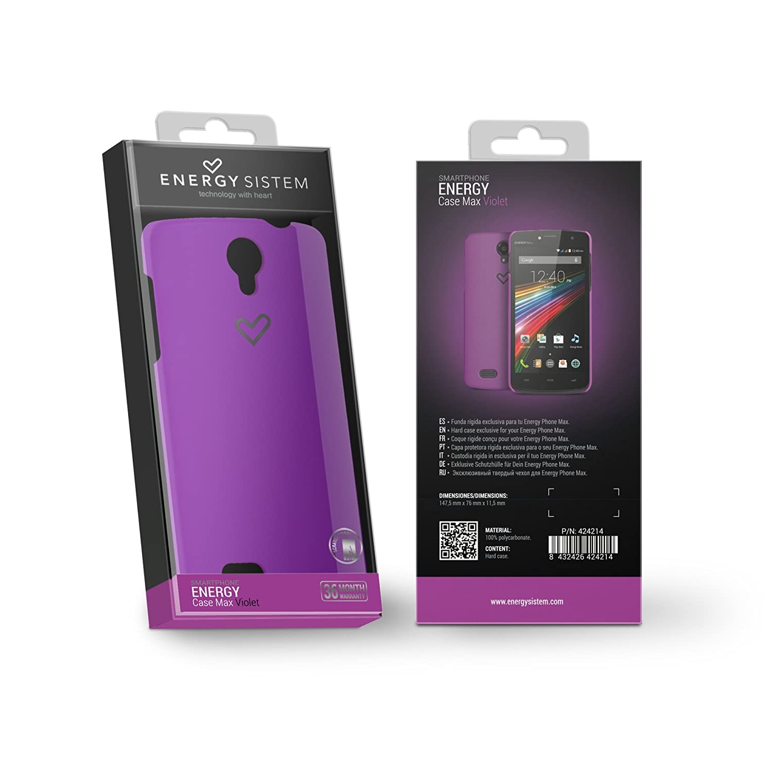 Energy Sistem - Funda para Smartphone exclusiva Phone Max, color violeta