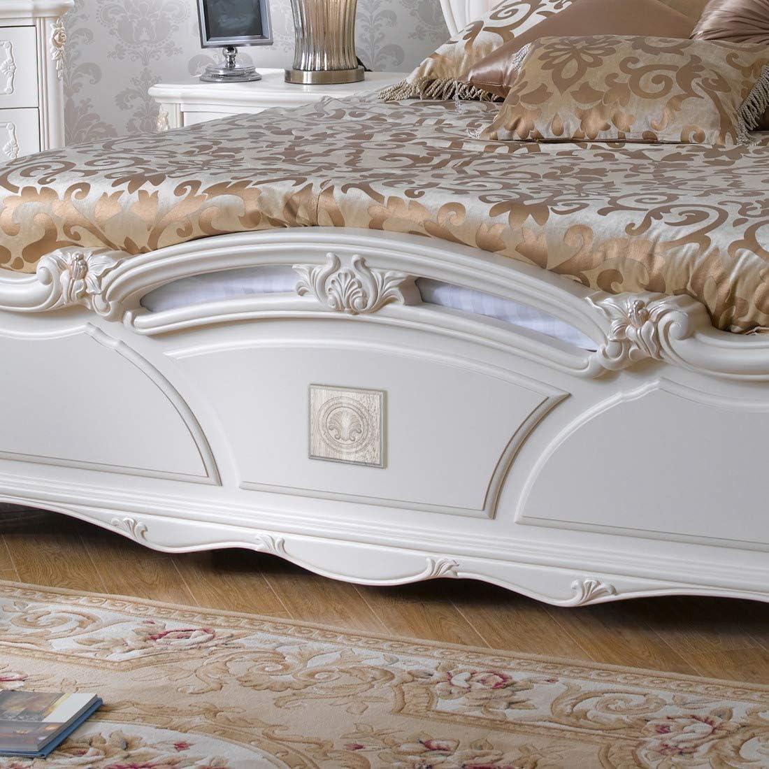 4 piezas de muebles de madera tallada con apliques decorativos para puerta de esquina Facibom