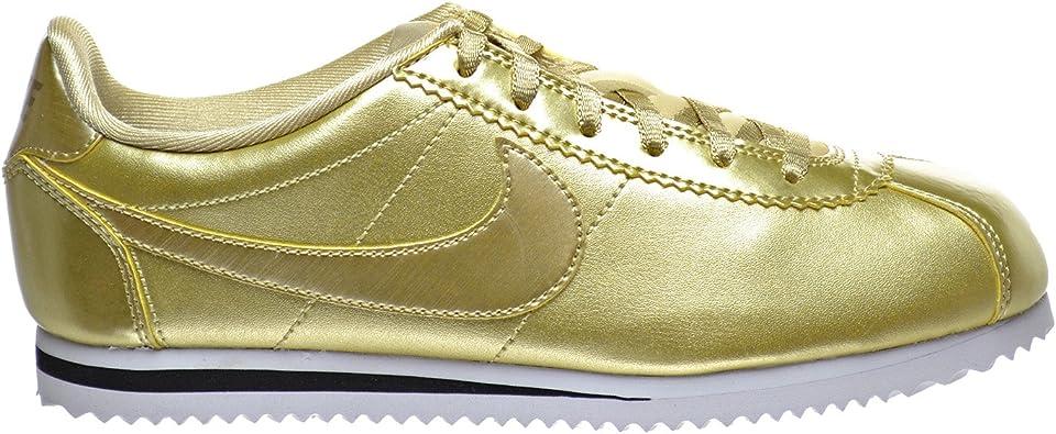 Nike Cortez Se (GS) Big Kid's Shoe Metallic Gold Star 859569