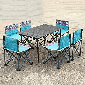 Alf Mesa y Silla de Camping 6 sillas Set jardín terraza Camping ...