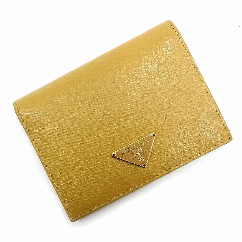 [プラダ] PRADA 二つ折り財布 ロゴプレート レザー X17024 中古 B07CCNB25W