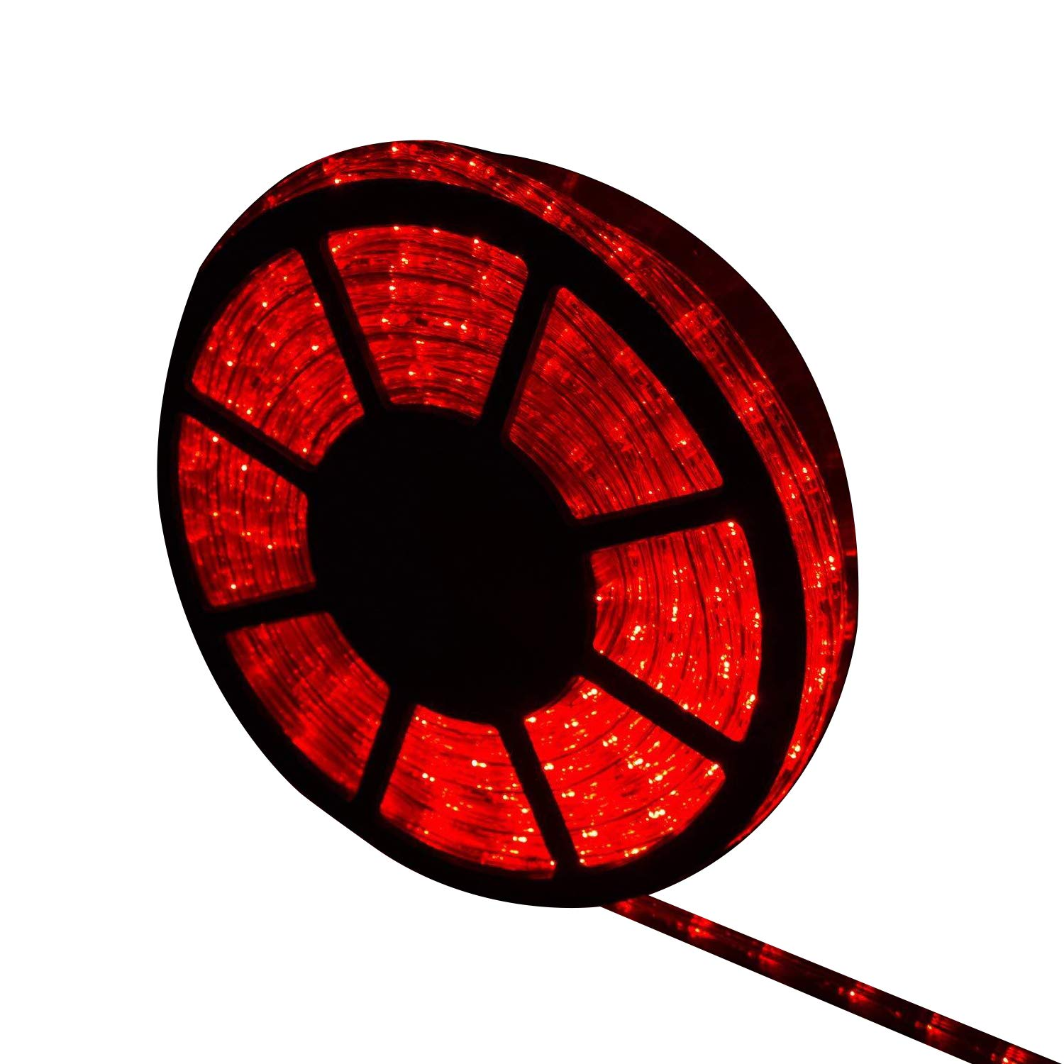 Ainfox LED Rope Light, 50Ft 540 LEDs LED Strip Lights Indoor Outdoor Waterproof Decorative Lighting (red)