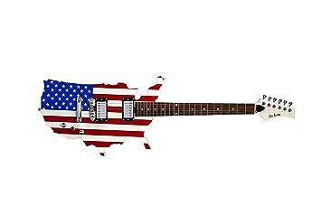 Glen Burton ge2009 rojo blanco y azul la bandera americana guitarra ...