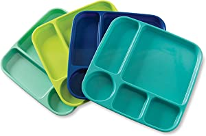Nordic Ware Meal Trays, Set of 4, Coastal Colors
