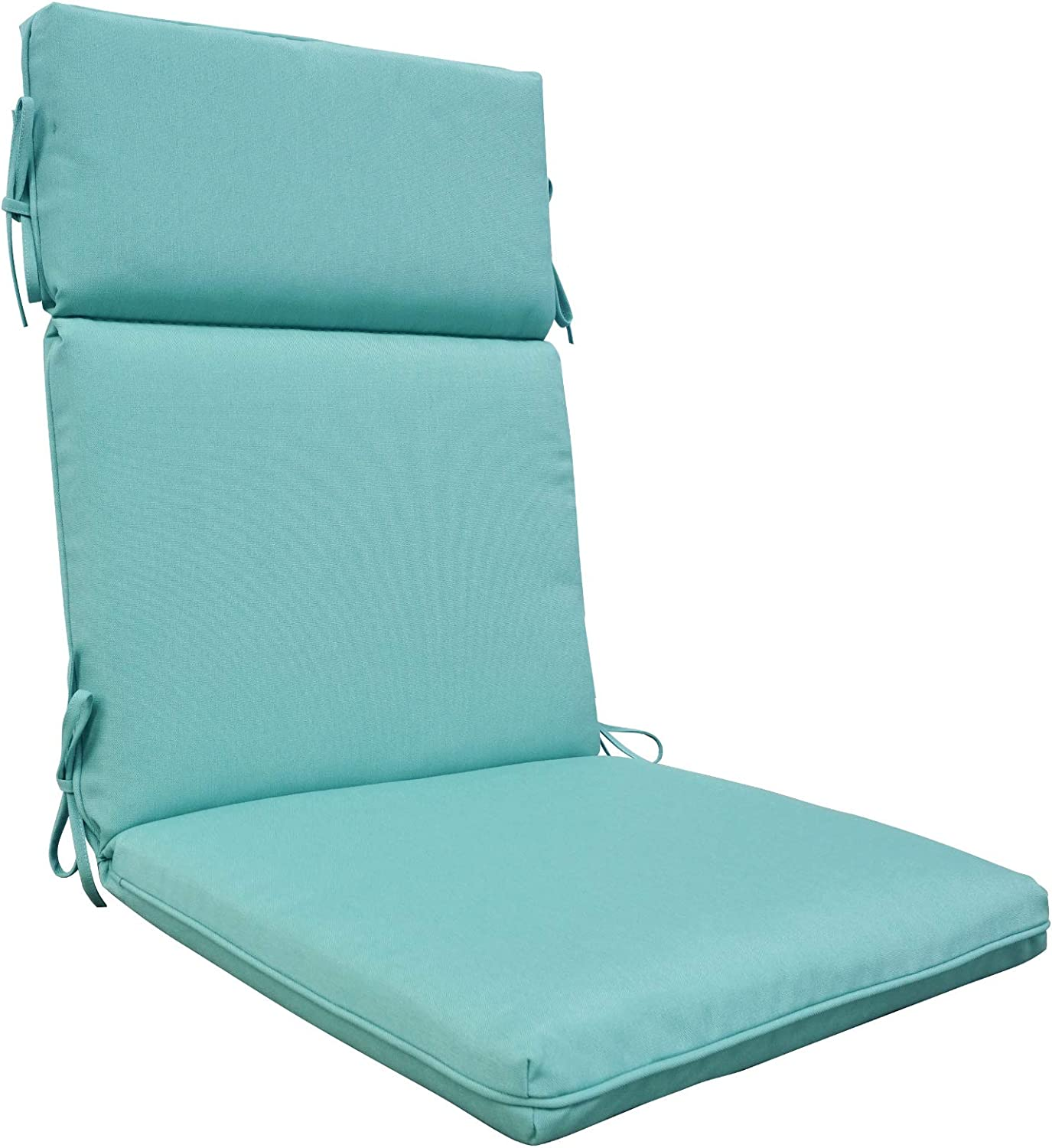 BOSSIMA Outdoor Indoor High Back Chair Cushions Comfort Replacement Patio Seating Cushions Light Blue