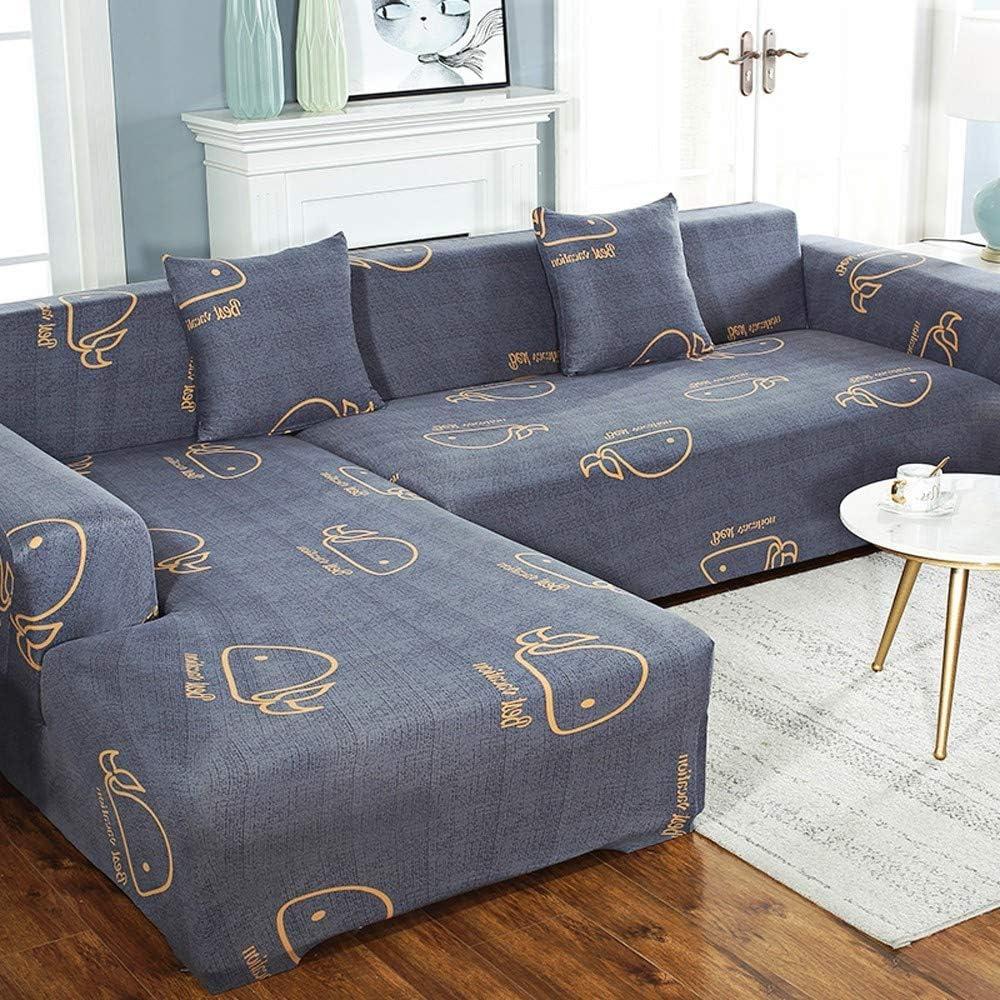 GGFHH Sofá Funda con Funda En Forma L Estiramiento Sofá Cubiertas Sofá Elástico Cubierta Completa Protector Antideslizante para Muebles para Sofá 3 Plazas190-230 cm