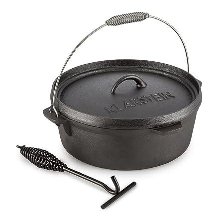Klarstein Hotrod Quickstick M Asa para Olla de Hierro (para 35 cm Ø Acero, Gancho para Colgar, Levantar ollas, Espiral, Reforzado para Soporte Fijo y ...