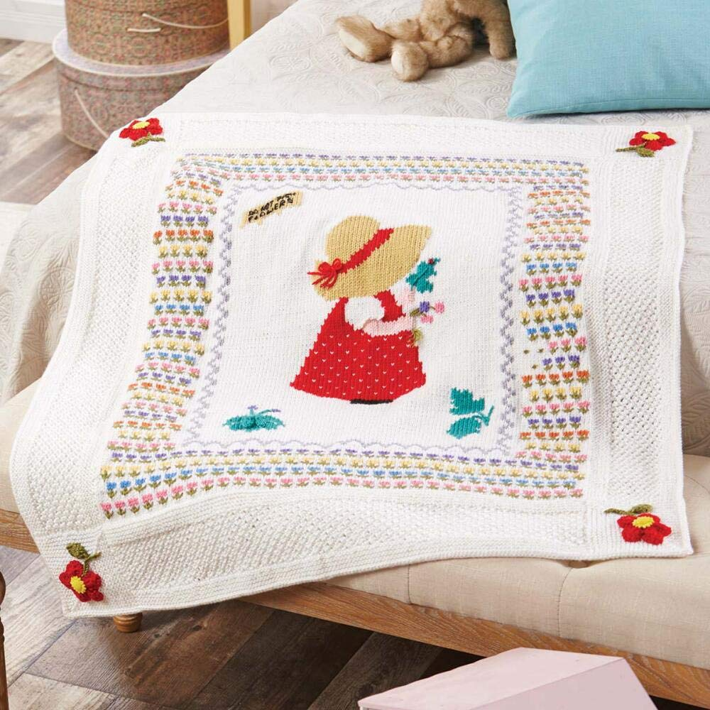 Herrschners® Pickin' Posies Blanket Knit Yarn Kit
