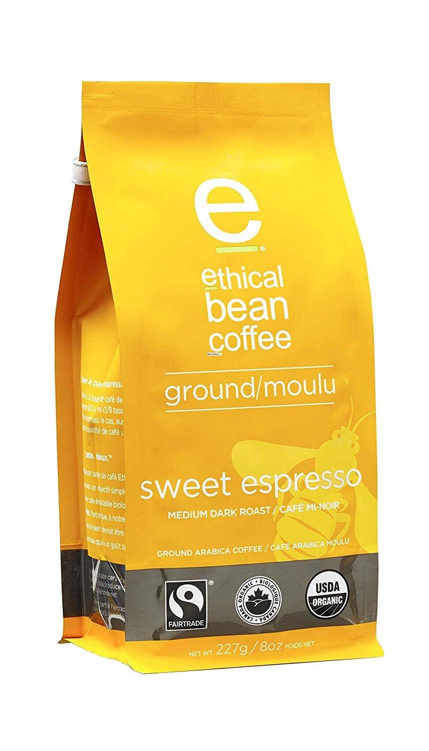 Amazon.com : Ethical Bean Coffee - Sweet Espresso Ground Coffee 8 oz (Pack of 6) : Grocery & Gourmet Food