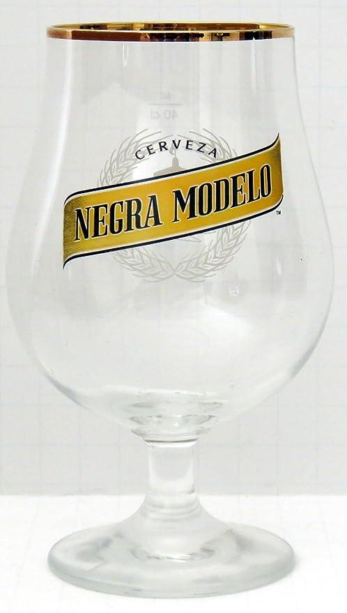 Set Of 4 MODELO ESPECIAL Gold Rimmed Beer CHALICE GLASS 12 OZ Crystal Glasses