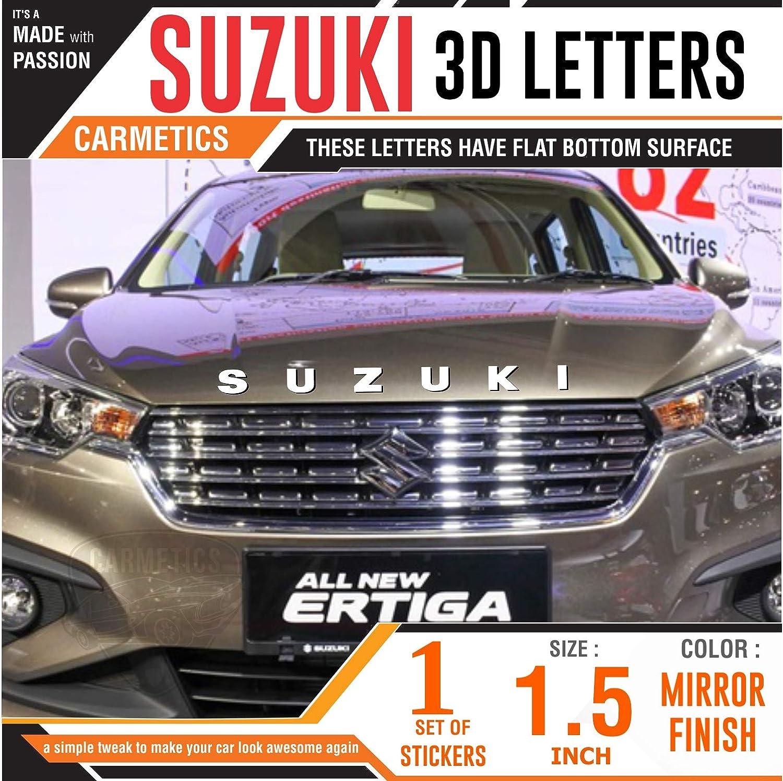 Carmetics suzuki car 3d letters car 3d stickers car 3d logo emblem styling accessories for maruti suzuki ertiga 2018 1 set chrome diesel sticker chrome