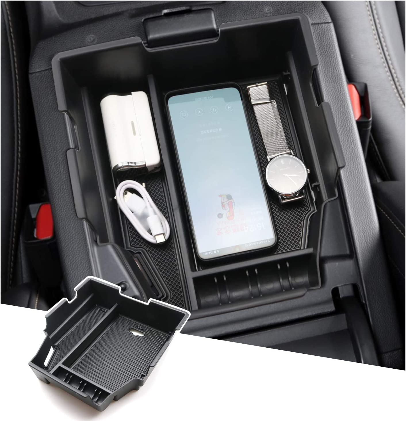 SHAOHAO Interior Accessories for Chevrolet Chevy Traverse Armrest Organizer 2019 2020 2021 Traverse Center Console Storage