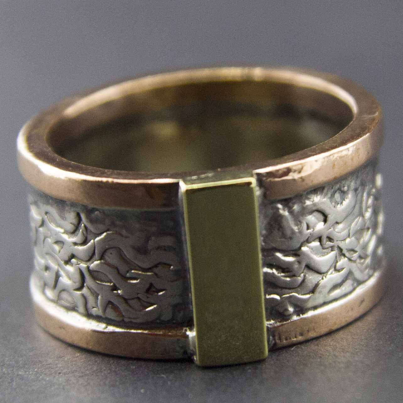 Falcon Jewelry Authentic Sterling Silver Unisex Wedding Ring Handmade