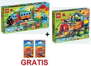 1050710508Batterie Super Set Lego Duplo Railway L354cRqAj