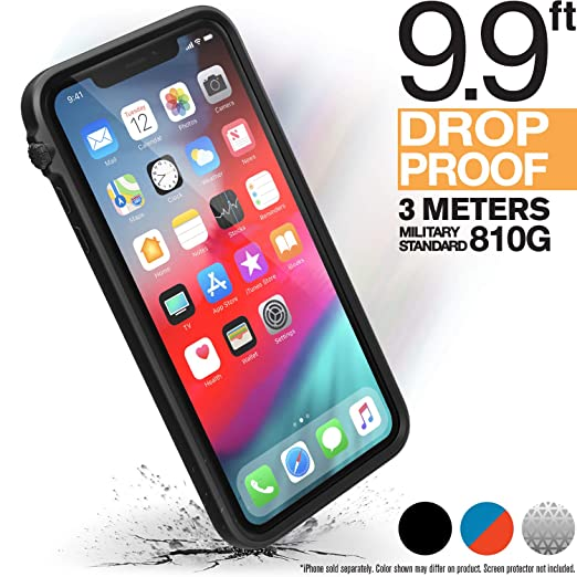 iphone-xs-max-case-impact-protection-by-catalyst,-military-grade-drop-and-shock-proof-premium-material-quality,-slim-design,-stealth-black by catalyst