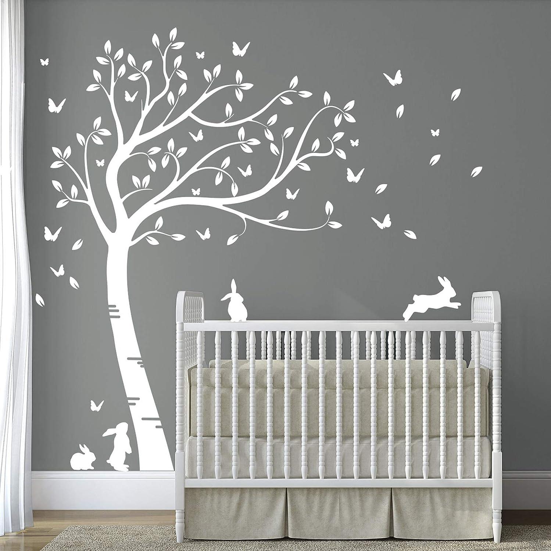 DesignDivil\'s Customised Full Size Beautiful Bunny Rabbits Tree Nursery  Room Wall Decal DD007