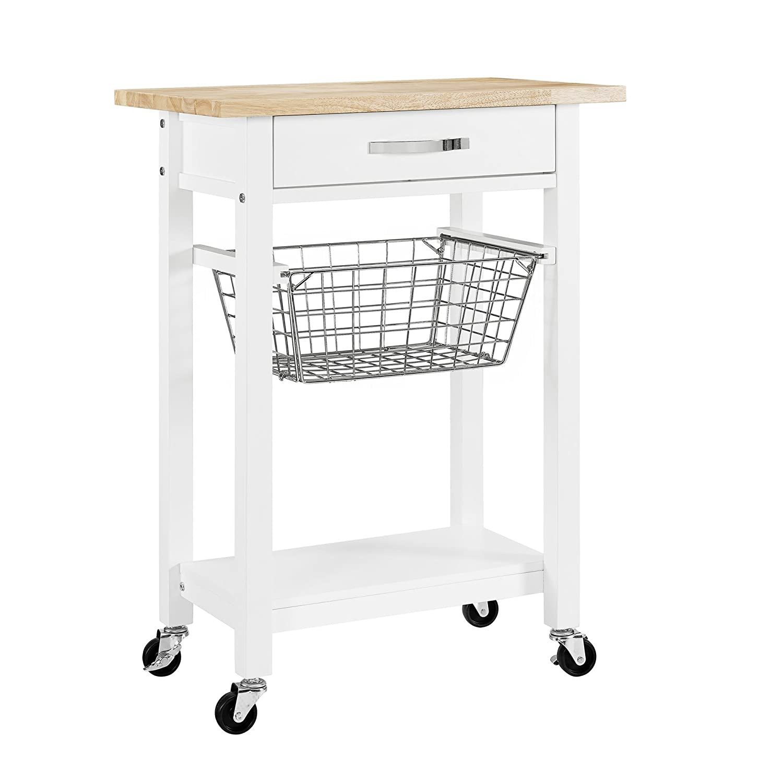 Dorel Living Mazie Multifunction Cart, White