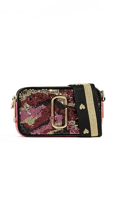Amazon.com  Marc Jacobs Women s Camo Sequin Snapshot Cross Body Bag ... 4dc6150d1856b