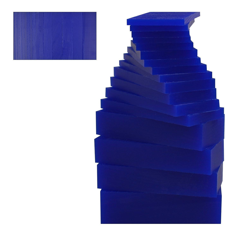 17 Piece Assortment of 1 Lb Blue Wax Carving Block Jewelry Pattern Making Machining Medium-Hard Melting Modeling Wax PMC Supplies WAX-331.20