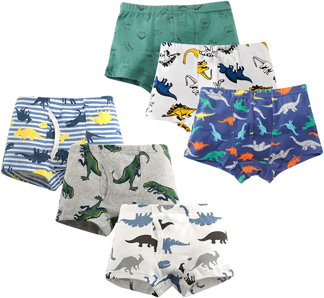 HLMBB Toddler Underwear Boy Boxer Briefs 3T 4T Little Boys Kids Short Panties Size 5 6