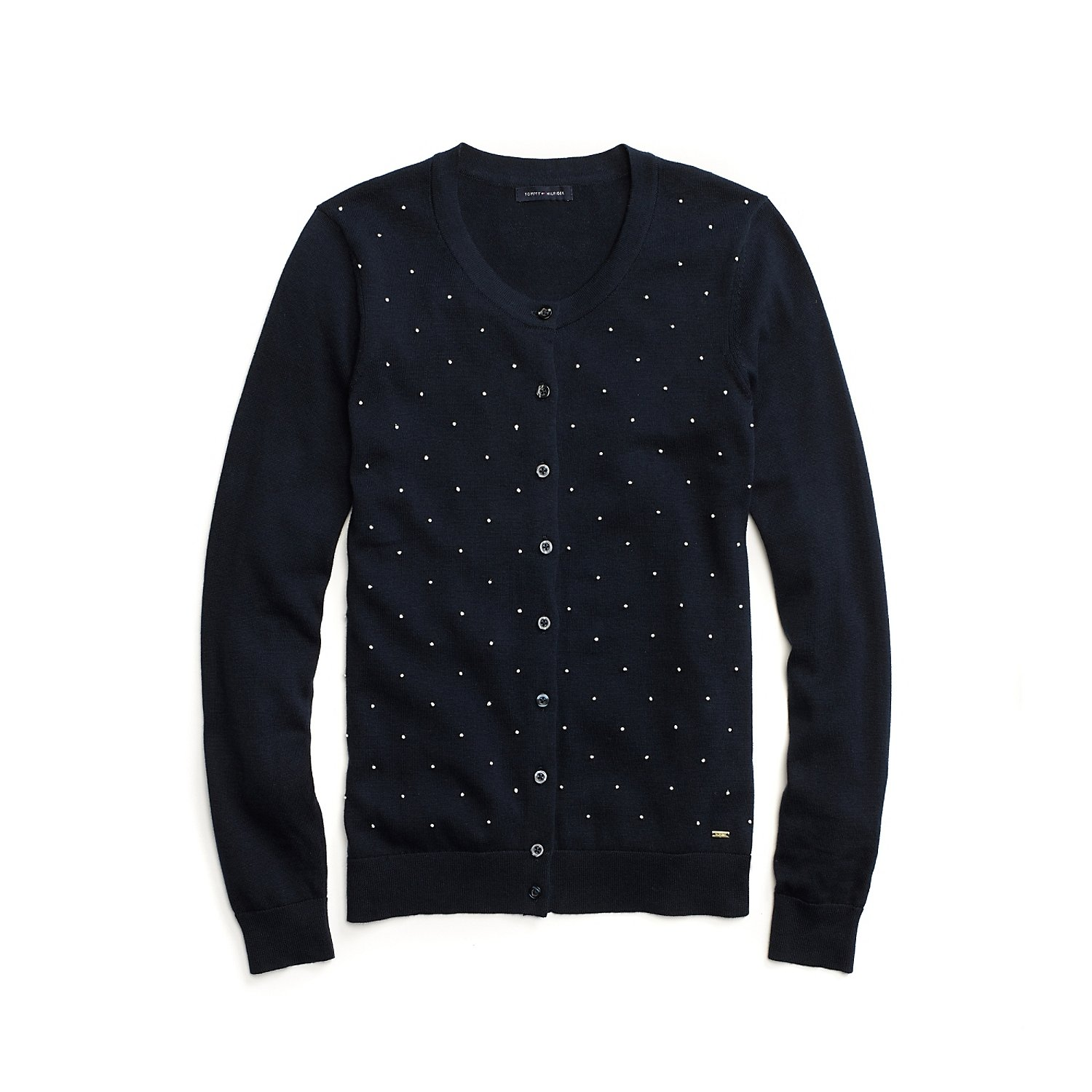 Tommy Hilfiger Women's French Knot Cardigan, Navy