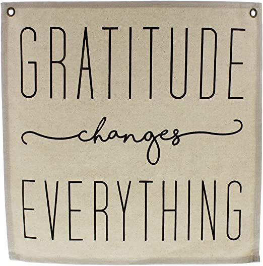 Amazon Com Homart Canvas Banner Gratitude Home Kitchen