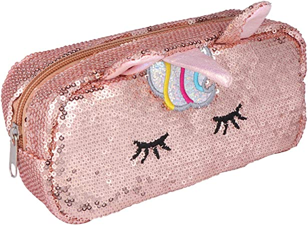 Unicorn Quilted Zipper Pouch