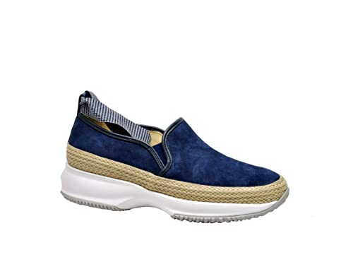 Hogan Mujer HXW00N0AG20I7FU803 Azul Gamuza Zapatillas: Amazon.es: Zapatos y complementos