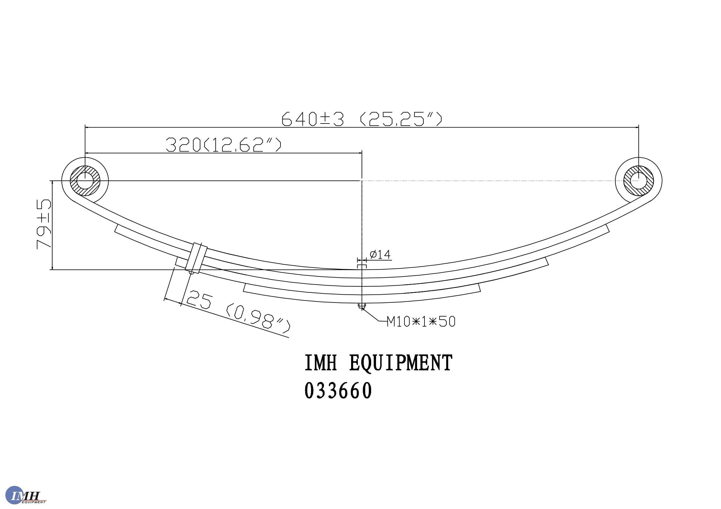 [Buy Two-Piece Sets] Trailer Leaf Spring- SW4B 4 Leaf, Double Eye 1750lbs for 3500lbs Axles