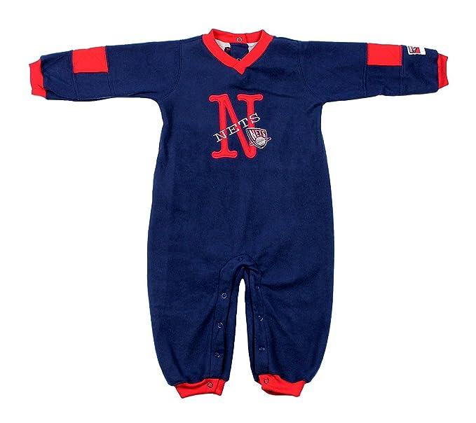 Amazon.com  New Jersey Nets NBA Infants (12- 24M)Bodysuit Fleece Coveralls 1fa6f0f5bc