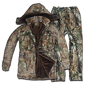 Espesar Traje de camuflaje a prueba de agua, Ropa de invierno de caza de algodón Ropa ...