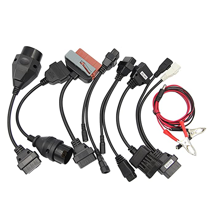 Vococal - OBD2 1 Juego Aparato de Prueba Diagnóstica para Vehiculo (8 Cables de Adaptadores): Amazon.es: Electrónica