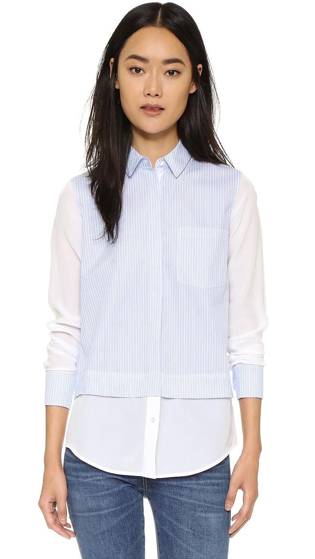 Vince Womens Striped Block Shirt