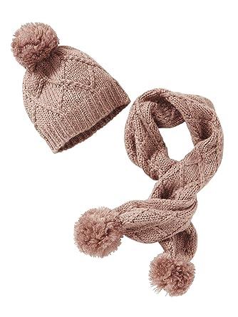 462d9d304e8 Vertbaudet Bonnet + écharpe torsades fille ROSE BLUSH 8 10 A  Amazon ...