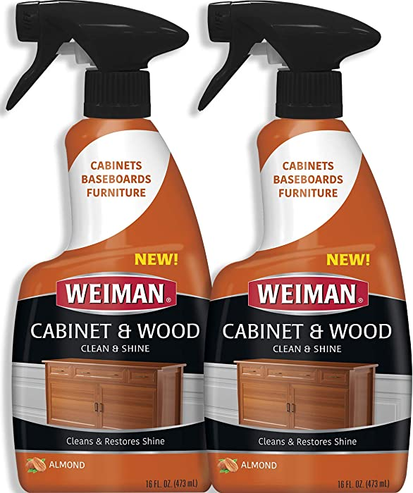 Weiman Furniture Polish & Wood Cleaner Spray - 16 Ounce (2 Pack) Condition Your Cabinet Door Table Chairs and More