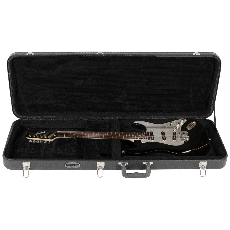 chromacast stratocaster telecaster fender les paul sg electric guitar hard case 811501017141 ebay. Black Bedroom Furniture Sets. Home Design Ideas