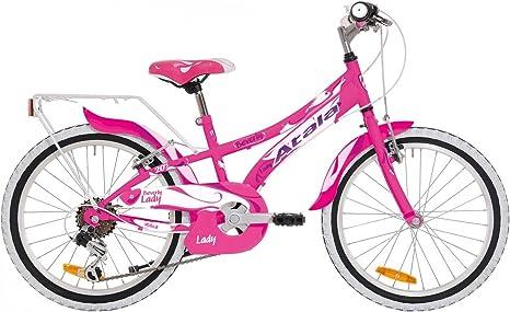 Bicicleta de niña Atala Beverly Fucsia/Blanco Cambio 6 Velocidades ...