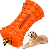 Dog Squeaky Toys for Aggressive Chewers Medium and Large Breed Dogs Chew Toy with Toothbrush Teeth Cleaning Interactive Fetch