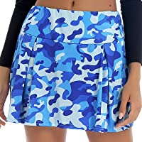 TiaoBug Women's Camouflage Printed Skorts Athletic Golf Skirts Outdoor Workout Running Jogging Sportswear Outfit