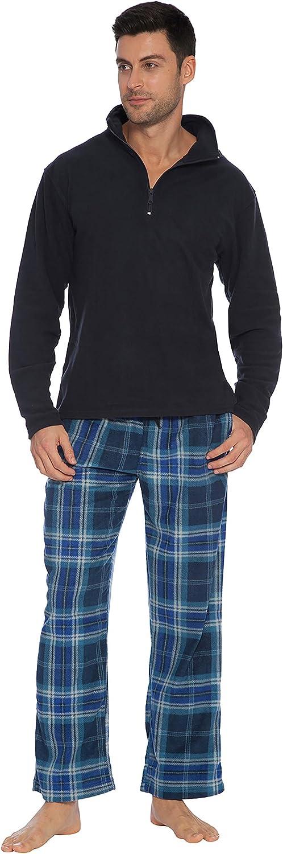 INTIMO Men's Navy Zipper Top Pajama Set