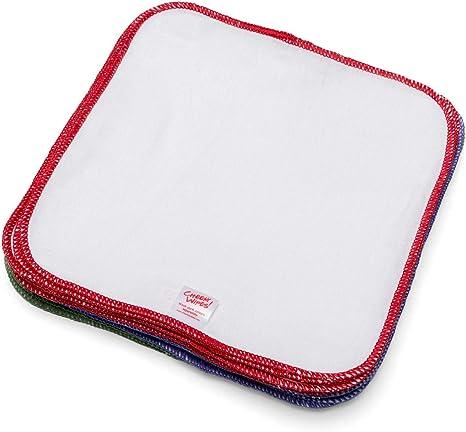 Paquete de 25 toallitas de franela de algodón para de bebé: Amazon ...