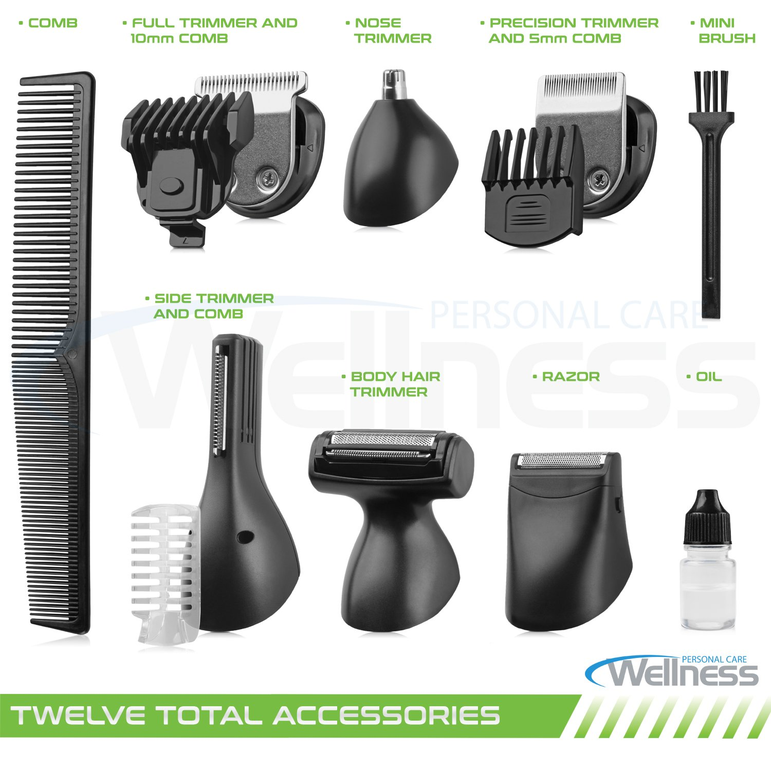 8 In 1 Men's Professional Grooming Kit, Cordless Beard Trimmer Hair Trimmer Kit