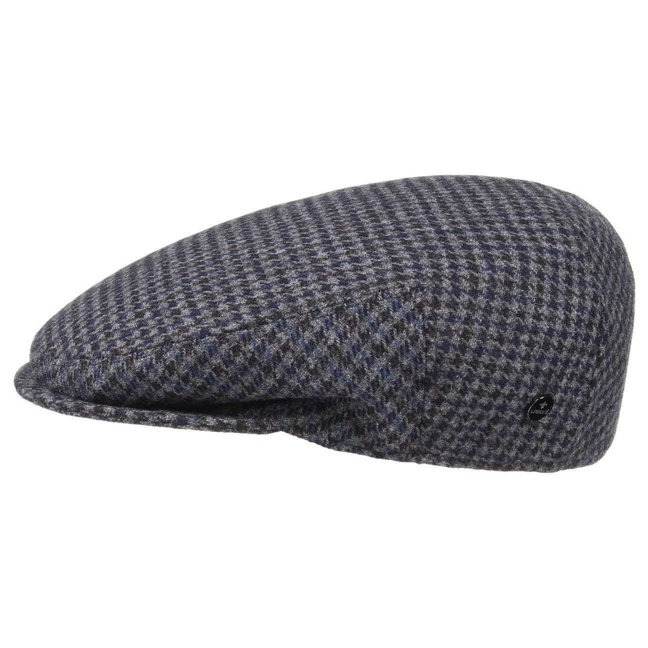 Lierys Britain Pied de Poule Coppola by Uomo Fodera Estate//Inverno Made in Italy Flat cap Cappello Piatto Invernale con Visiera