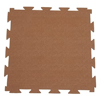 Terra Flex Interlocking Rubber Flooring   1/4x24x24 Inch   Premium Rubber  Tiles (