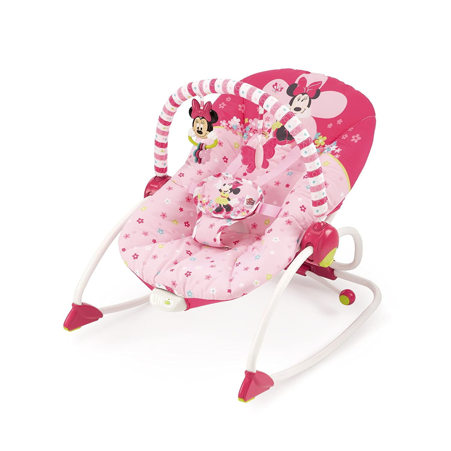 Disney Minnie Mouse Bows & Butterflies Baby To Big Kid Rocking Seat