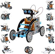 HOMOFY STEM Toys Solar Robot Kit 12-in-1 Educational Science Kits Toys|Learning Science Building Toys-Powered by Solar|STEM
