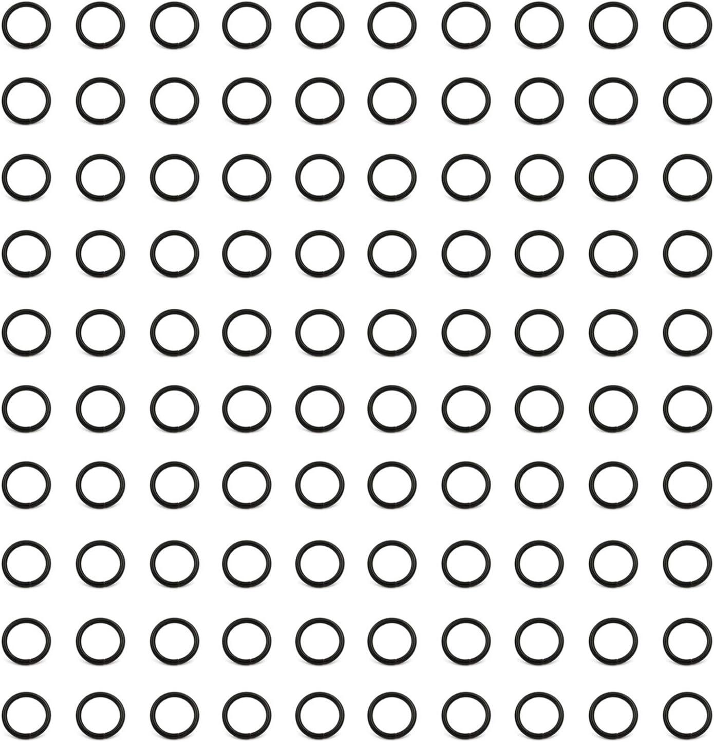 O-Anelli Scarpe e Cinture Nero Non saldato per Borse BIKICOCO 1.3 cm Anello a O in Metallo collari Anelli di Metallo 100 Pezzi o-Ring